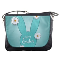 Easter Bunny Cutout Background 2402 Messenger Bag by catchydesignhill