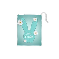 Easter Bunny Cutout Background 2402 Drawstring Pouch (xs) by catchydesignhill