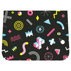 Memphis Design Seamless Pattern Buckle Messenger Bag
