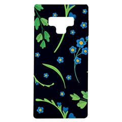 Abstract Wildflowers Dark Blue Background-blue Flowers Blossoms Flat Retro Seamless Pattern Daisy Samsung Galaxy Note 9 Tpu Uv Case
