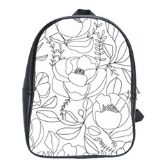 Contemporary Nature Seamless Pattern School Bag (xl) by BangZart