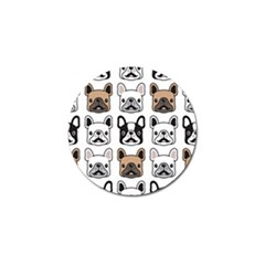 Dog French Bulldog Seamless Pattern Face Head Golf Ball Marker (10 Pack) by BangZart