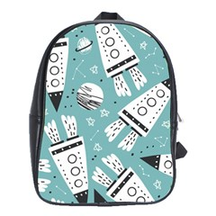 Cute Seamless Pattern With Rocket Planets Stars School Bag (xl)