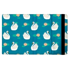 Elegant Swan Pattern With Water Lily Flowers Apple Ipad Pro 12 9   Flip Case by BangZart