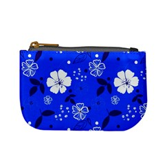 Blooming Seamless Pattern Blue Colors Mini Coin Purse by BangZart