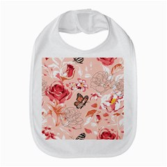 Beautiful Seamless Spring Pattern With Roses Peony Orchid Succulents Bib