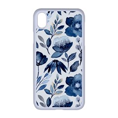 Indigo Watercolor Floral Seamless Pattern Iphone Xr Seamless Case (white) by BangZart