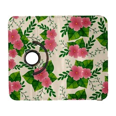 Cute Pink Flowers With Leaves-pattern Samsung Galaxy S  Iii Flip 360 Case by BangZart