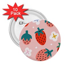 Strawberry Seamless Pattern 2 25  Buttons (10 Pack)