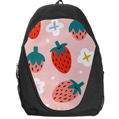 Strawberry Seamless Pattern Backpack Bag by BangZart
