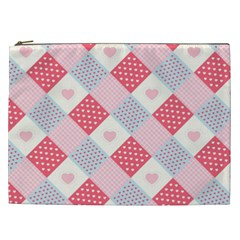 Cute Kawaii Patches Seamless Pattern Cosmetic Bag (xxl)
