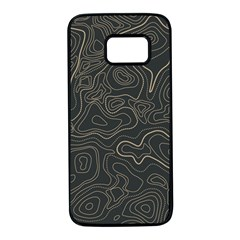 Damask Seamless Pattern Samsung Galaxy S7 Black Seamless Case