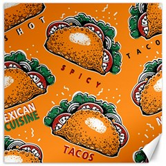 Seamless Pattern With Taco Canvas 20  X 20  by BangZart