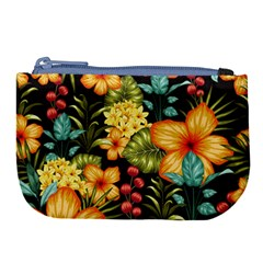 Fabulous Colorful Floral Seamless Large Coin Purse by BangZart