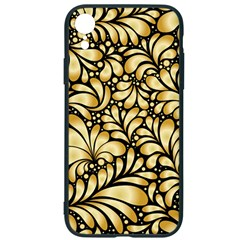 Damask Teardrop Gold Ornament Seamless Pattern Iphone Xr Soft Bumper Uv Case by BangZart