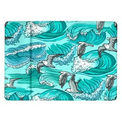 Sea Waves Seamless Pattern Samsung Galaxy Tab 10 1  P7500 Flip Case by BangZart