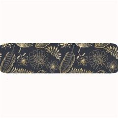 Elegant Pattern With Golden Tropical Leaves Large Bar Mats by BangZart