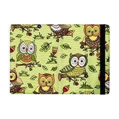 Seamless Pattern With Flowers Owls Apple Ipad Mini Flip Case by BangZart