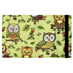 Seamless Pattern With Flowers Owls Apple Ipad Pro 12 9   Flip Case