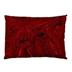Red Liquid Marble Pillow Case