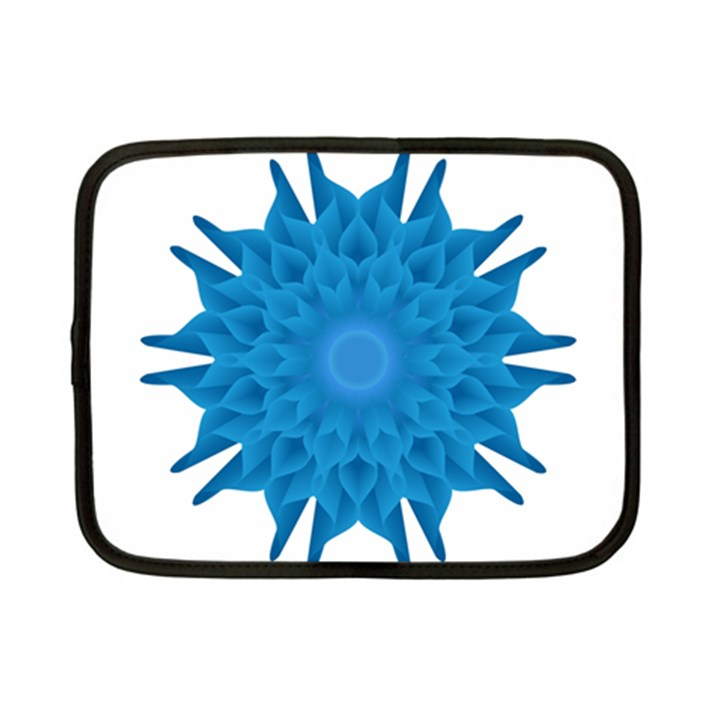 Blue Blend Flower Netbook Case (Small)