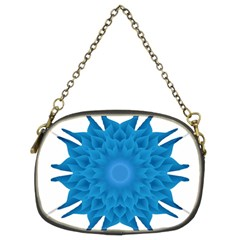 Blue Blend Flower Chain Purse (two Sides)