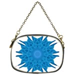 Blue Blend Flower Chain Purse (Two Sides) Front