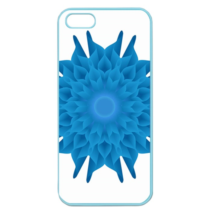 Blue Blend Flower Apple Seamless iPhone 5 Case (Color)