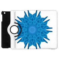 Blue Blend Flower Apple Ipad Mini Flip 360 Case