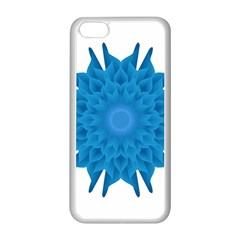 Blue Blend Flower Iphone 5c Seamless Case (white)