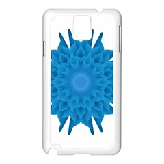Blue Blend Flower Samsung Galaxy Note 3 N9005 Case (white)