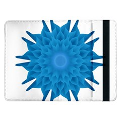 Blue Blend Flower Samsung Galaxy Tab Pro 12 2  Flip Case