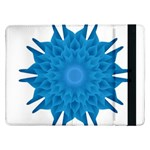 Blue Blend Flower Samsung Galaxy Tab Pro 12.2  Flip Case Front