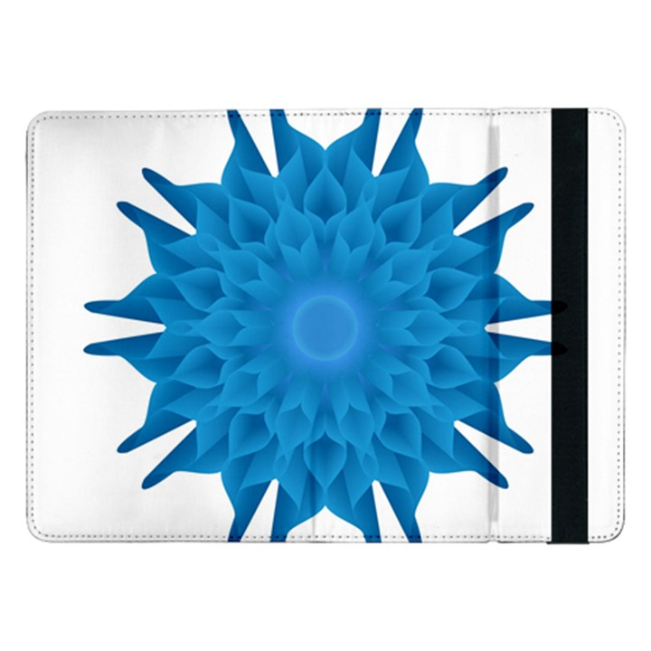 Blue Blend Flower Samsung Galaxy Tab Pro 12.2  Flip Case