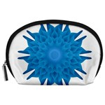 Blue Blend Flower Accessory Pouch (Large) Front