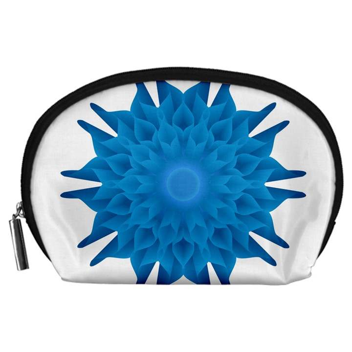 Blue Blend Flower Accessory Pouch (Large)