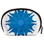 Blue Blend Flower Accessory Pouch (Large) Back