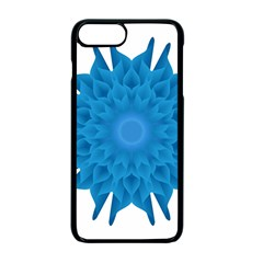 Blue Blend Flower Iphone 7 Plus Seamless Case (black)
