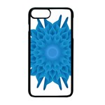 Blue Blend Flower iPhone 7 Plus Seamless Case (Black) Front