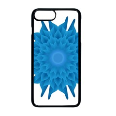 Blue Blend Flower Iphone 8 Plus Seamless Case (black)