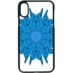 Blue Blend Flower Iphone Xs Seamless Case (black)