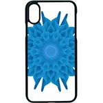 Blue Blend Flower iPhone XS Seamless Case (Black) Front