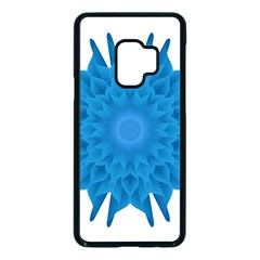 Blue Blend Flower Samsung Galaxy S9 Seamless Case(black)