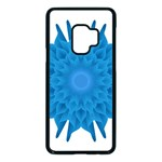 Blue Blend Flower Samsung Galaxy S9 Seamless Case(Black) Front