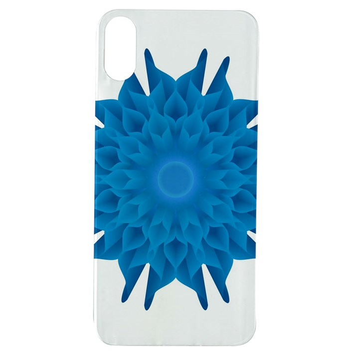 Blue Blend Flower Apple iPhone XS TPU UV Case