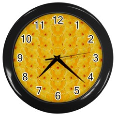 Blossoms  So Free In Freedom Wall Clock (Black)