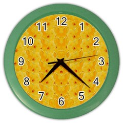 Blossoms  So Free In Freedom Color Wall Clock