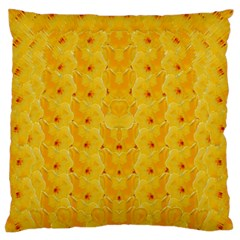 Blossoms  So Free In Freedom Large Flano Cushion Case (One Side)