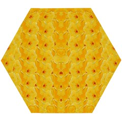 Blossoms  So Free In Freedom Wooden Puzzle Hexagon