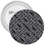 Linear Black And White Ethnic Print 3  Buttons Front